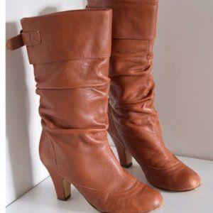 Steve Madden Cognac Legion Scrunch Boots/Booties